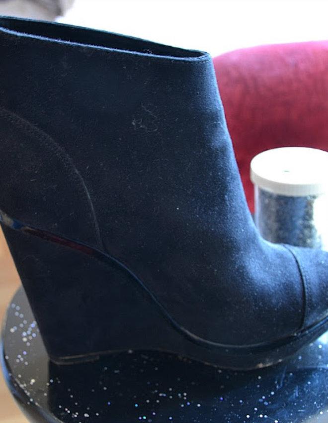 DIY: Chaussure à paillettes