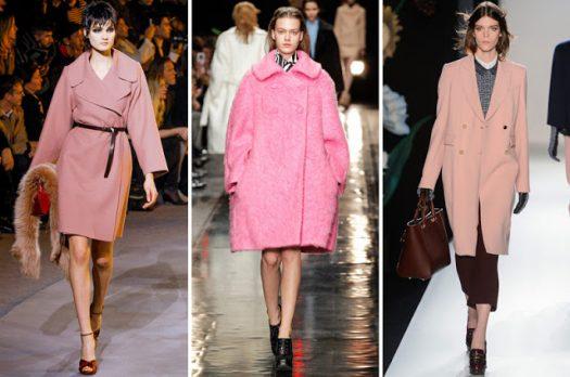 La tendance du manteau rose…