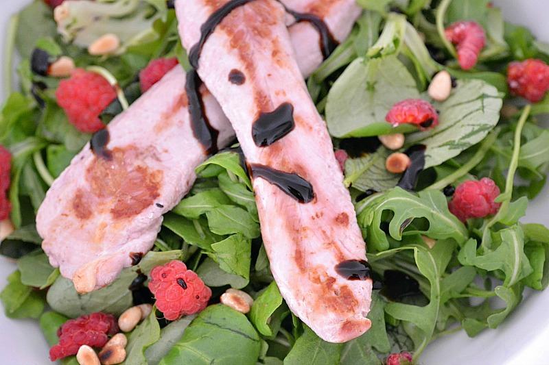 Salade canard & framboise