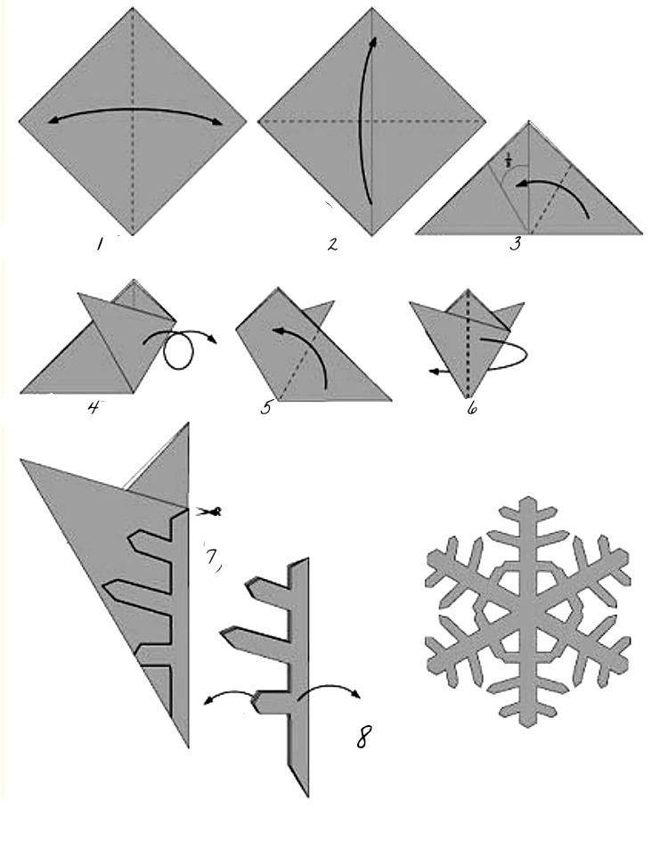 Origami flocon de neige gallery of des flocons de neige de diamants origami png et vecteur - Flocon de neige en papier origami ...