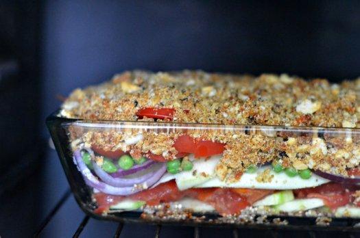 Crumble de légumes, TUC/Chorizo