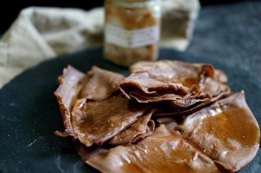 Crêpe châtaigne et chocolat (sans gluten/sans lait)