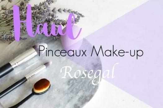 Haul Pinceaux de Make-up Rosegal (concours)