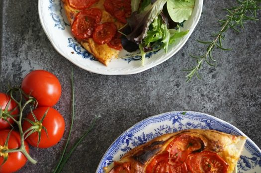 Tarte Tomate moutarde tapenade