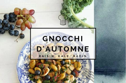 Gnocchis Kale, raisin, radis