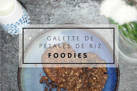 Galette de pétales de riz au chocolat