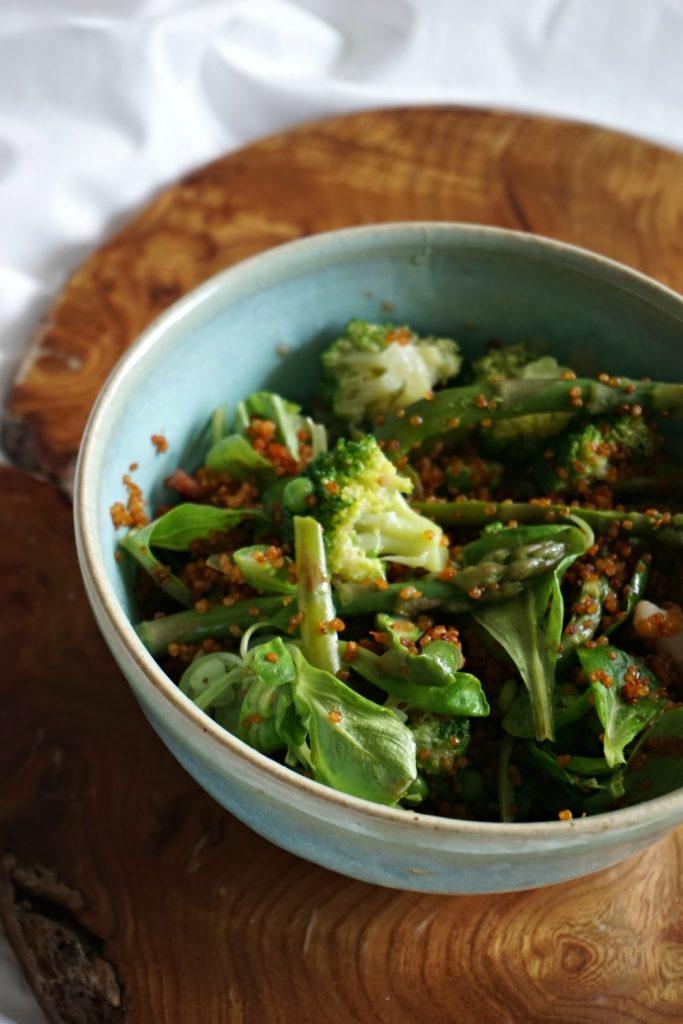 Quinoa épicé aux légumes verts