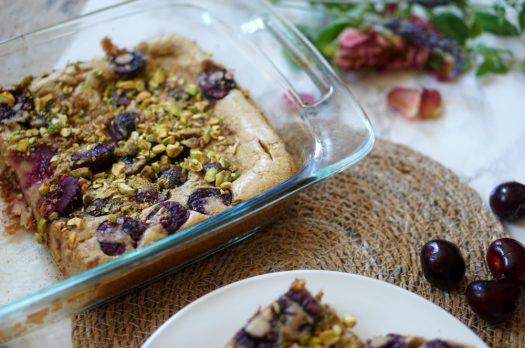 Clafoutis Cerise pistaches, sans beurre