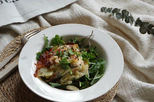 """Recette """"lasagnes"""" végétariennes- sans gluten"""