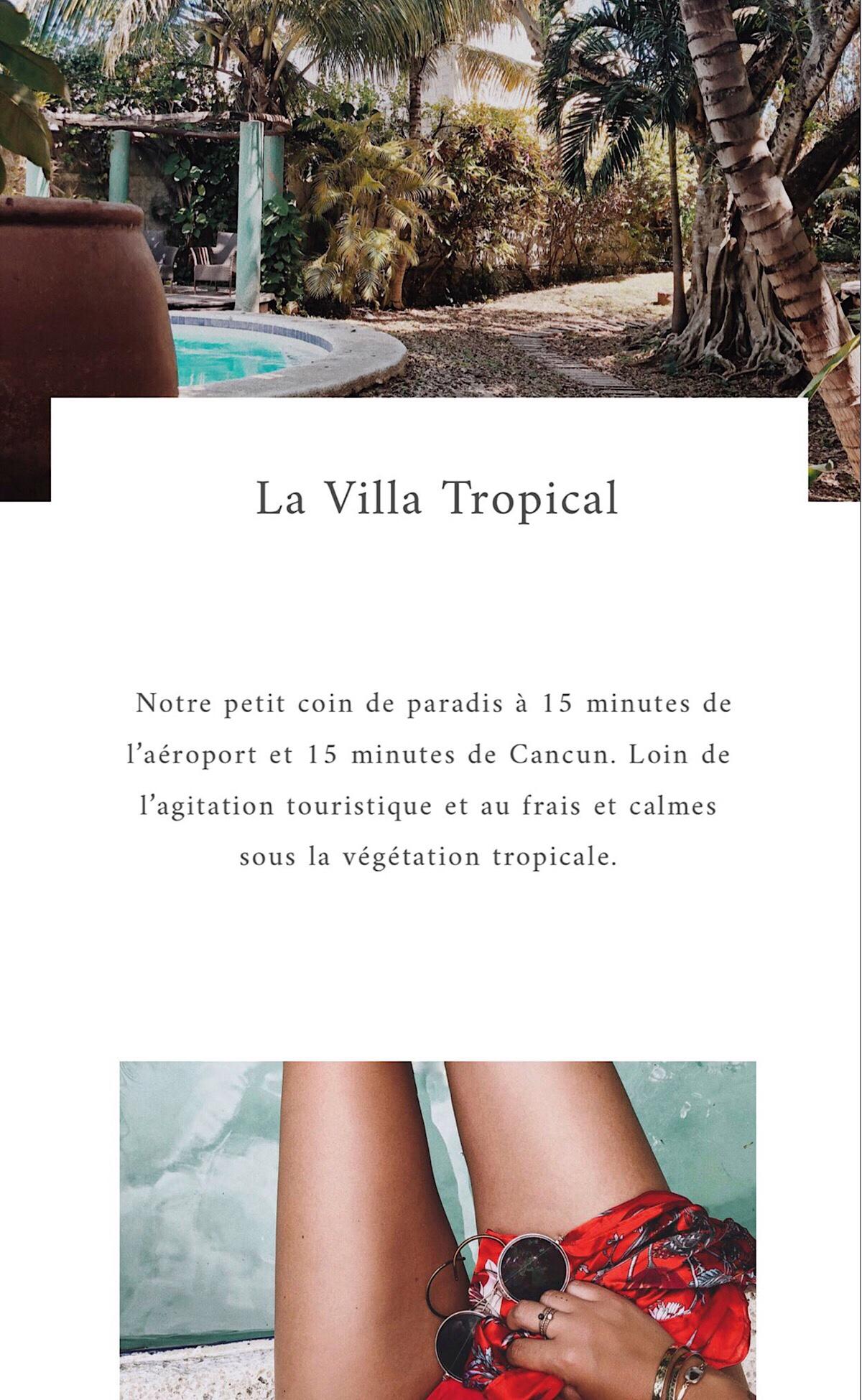 Villa tropical cancun