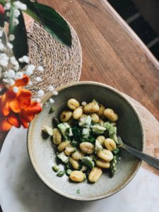 gnocchis aux asperges