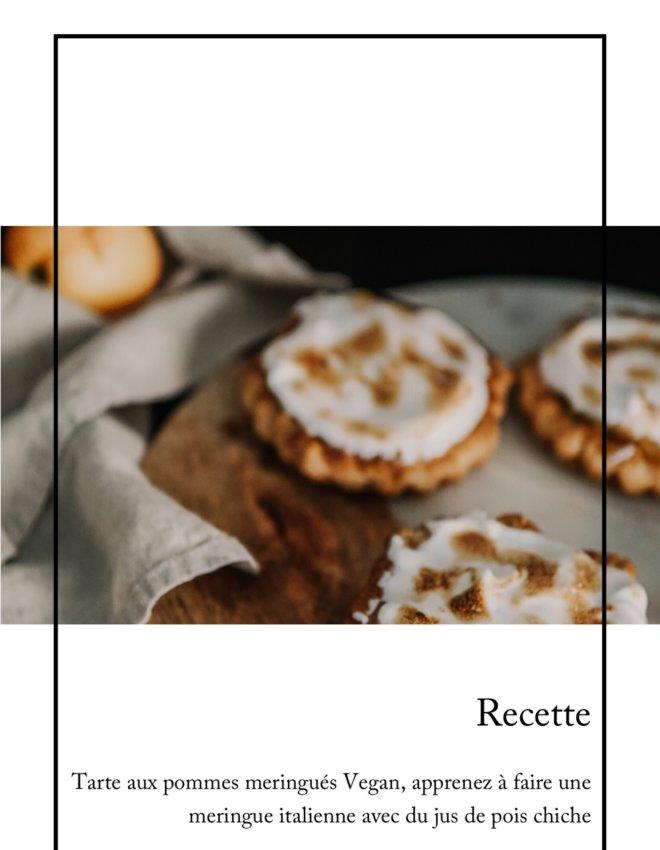Tartelettes rustiques aux pommes meringuées , Vegan