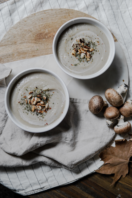 Velouté de patisson et champignon (Vegan)