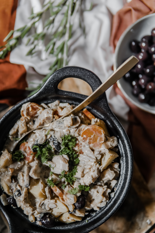 Ragoût de Jack fruit aux olives