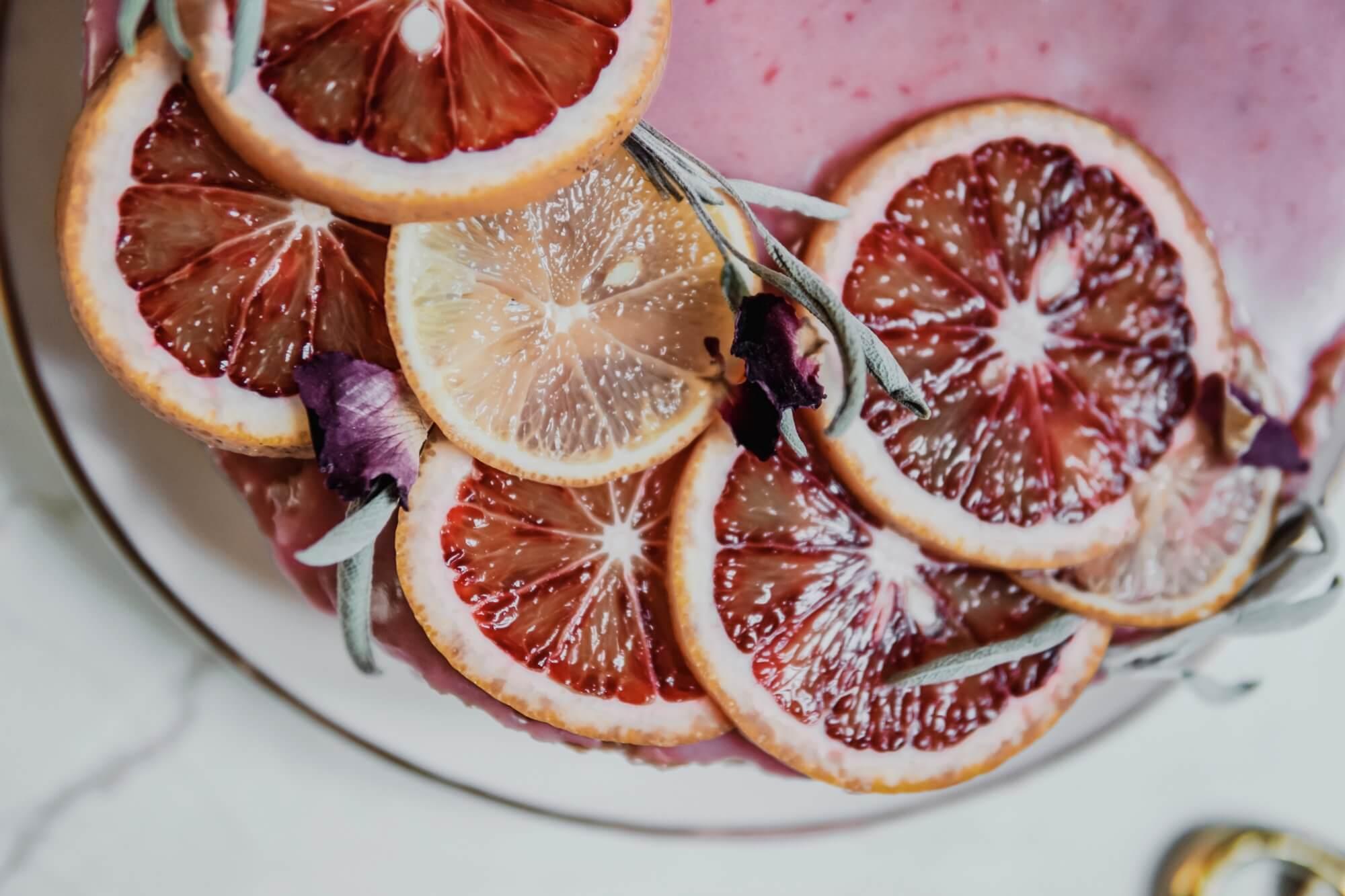 gâteau facile bergamotte glaçage Orange sanguine