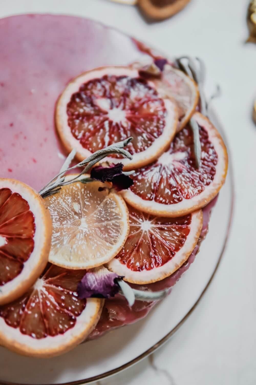 gâteau facile bergamote glaçage Orange sanguine