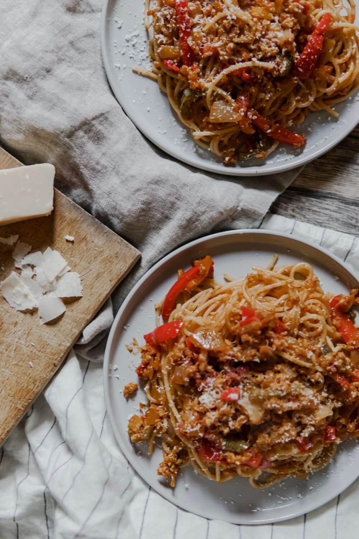 Spaghetti inspiration Bolognaise d'hiver (Vegé)