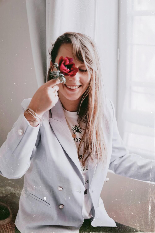 sourire fleurs