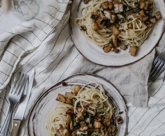 Prêt en 10 min: Spaghetti frais aux navets nouveaux