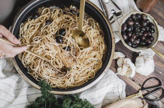 Spaghetti à l'ail (vegan)