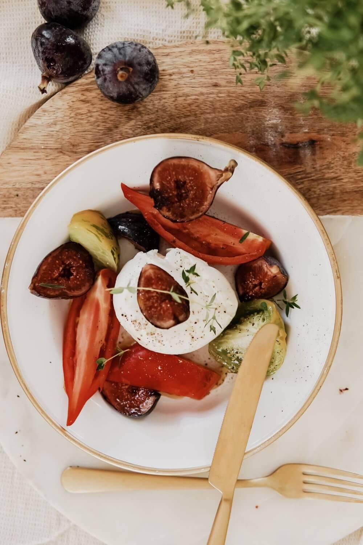 Mozza di buffala, tomates anciennes et figues