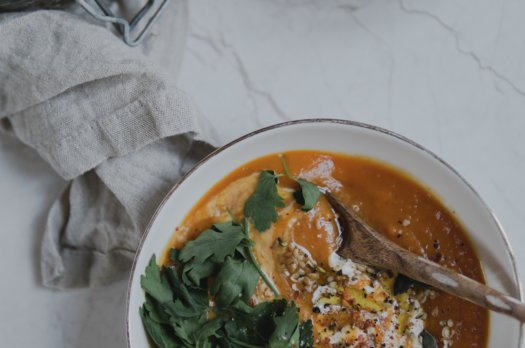 Soupe butternut / patate douce / carottes